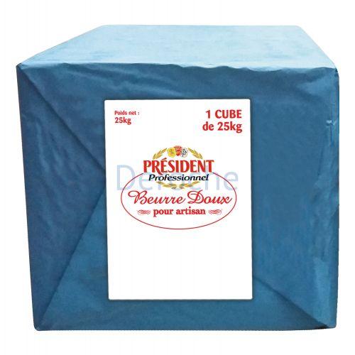 Beurre doux en cube  82% de matière grasse