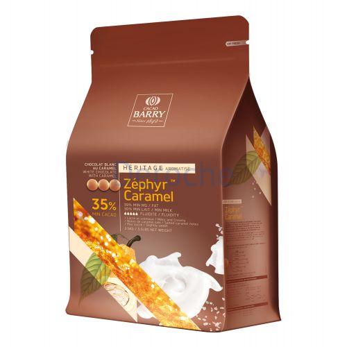 Chocolat blanc zéphyr au caramel